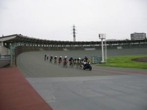 日本競輪選手会神奈川支部協力のバイク誘導