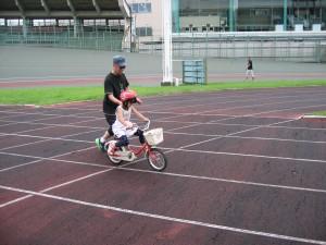自転車に慣れましょう1