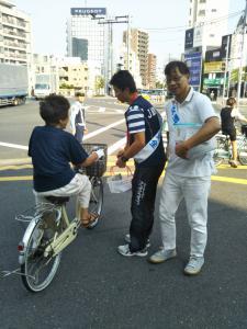 自転車交通安全キャンペーン